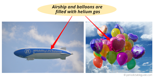 what are the uses of noble gases helium (use of helium gas)