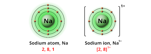 Charge of sodium ion