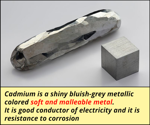 is Cadmium a metal Nonmetal or Metalloid